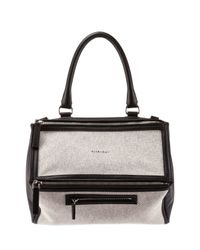 Givenchy - Black Pandora Medium Canvas & Leather Bag - Lyst