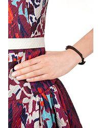Lynn Ban - Black Rhodium Bracelet 2 With Black Diamonds - Silver - Lyst