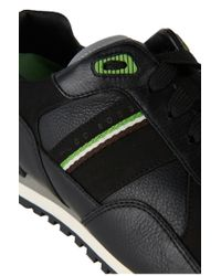 BOSS Green - Black 'runcool Full' Trainers In Fabric Blend for Men - Lyst