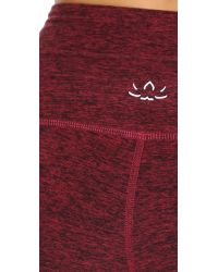 Beyond Yoga | Red Space Dye High Waisted Leggings - Black/steel | Lyst