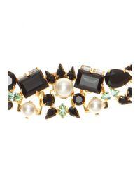 Erdem | Multicolor 23kt Goldplated Swarovski Crystal Necklace | Lyst
