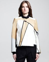 Helmut Lang - Natural Boxy Segment Suiting Jacket Petite - Lyst