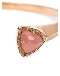 Jacquie Aiche - Pink Diamond And Quartz Bangle - Lyst