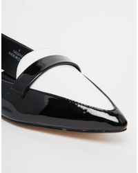 ASOS | Black Leigh Pointed Ballet Flats | Lyst