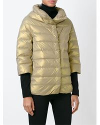 Herno - Metallic Padded Jacket - Lyst