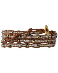 Chan Luu - Brown 32' Mystic Labradorite Crystal Wrap Bracelet - Lyst