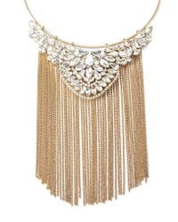Forever 21 - Metallic Fringe Collar Statement Necklace - Lyst