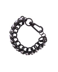 KG by Kurt Geiger | Black Pam Pearl Bracelet for Men | Lyst