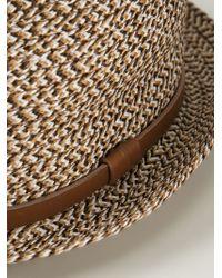 Giorgio Armani - Brown Braided Trilby Hat for Men - Lyst