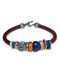 Platadepalo | Multicolor Classic Denim Leather Bracelet With Resin | Lyst