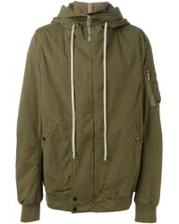 DRKSHDW by Rick Owens - Green Hooded Jacket for Men - Lyst