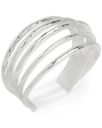 Robert Lee Morris | Metallic Silver-tone Multi-row Cuff Bracelet | Lyst