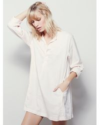 Free People | Natural Cp Shades X Womens Jessica Shirt Dress | Lyst