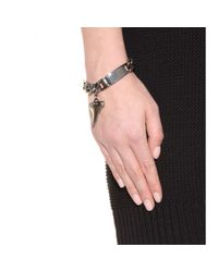 Givenchy | Metallic Shark Tooth Chain-link Bracelet | Lyst
