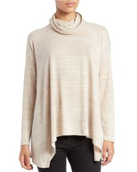 Kensie | Natural Long-sleeve Cowl-neck Sweater | Lyst