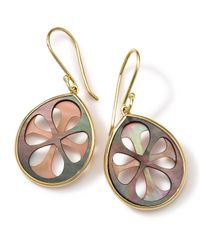 Ippolita | Metallic 18K Gold Polished Rock Candy Carved Layers Small Teardrop Earrings | Lyst