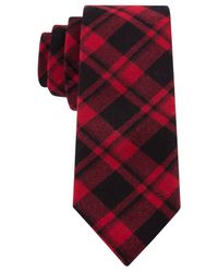 Tommy Hilfiger | Red Fading Slim Plaid Tie for Men | Lyst