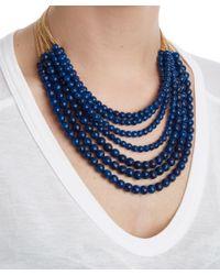 Rosantica   Metallic Blue Mini Raissa Quartz Beaded Necklace   Lyst
