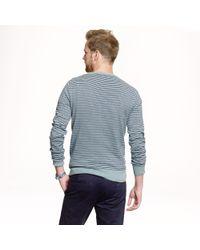 J.Crew - Blue Slim Cottoncashmere Sweater in Microstripe for Men - Lyst