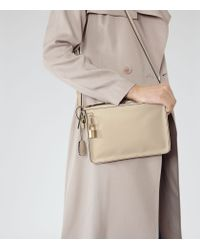 Reiss - Natural Filo Double Compartment Bag - Lyst