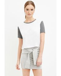 Forever 21 | Gray Heathered Tie-front Skirt You've Been Added To The Waitlist | Lyst