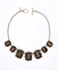 Ann Taylor | Black Botanical Stone Statement Necklace | Lyst