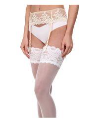 Wacoal | Natural Embrace Lace Garter Belt | Lyst