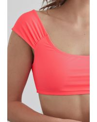 Forever 21 - Pink Off-the-shoulder Swim Top - Lyst
