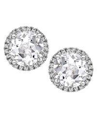 Kiki McDonough | Multicolor Grace White Topaz & Diamond Stud Earrings | Lyst