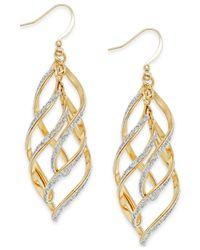 Style & Co. - Metallic Glitter Wavy Teardrop Earrings - Lyst