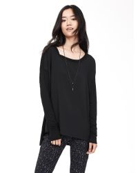 Banana Republic | Black Mixed-media Drapey Top | Lyst