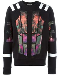 Les Hommes | Multicolor Fleece With Multicoloured Print for Men | Lyst