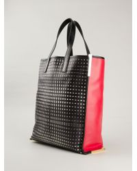 Emanuel Ungaro - Black Patterned Shopper Tote - Lyst