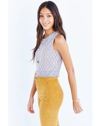 Truly Madly Deeply - Gray Everday Cropped Tank Top - Lyst