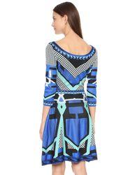 Temperley London | Blue Brooke Flared Dress | Lyst