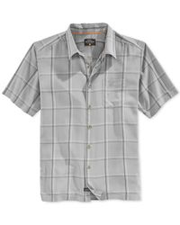Quiksilver | Gray Waterman Large-plaid Button-front Shirt for Men | Lyst