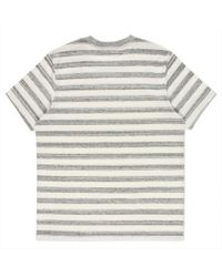Paul Smith - White Men's Grey Marl And Ecru Thick-stripe T-shirt for Men - Lyst