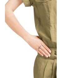 Pamela Love - Metallic Luna Two Finger Ring With Labradorite - Lyst