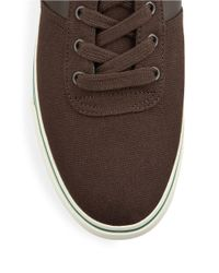 Polo Ralph Lauren | Brown Hanford Canvas Lace-up Sneakers for Men | Lyst