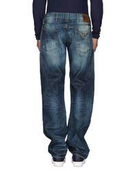 Armani Jeans - Blue Denim Trousers for Men - Lyst
