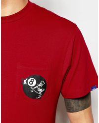 Vans   Red T-shirt With 8 Ball Back Print for Men   Lyst