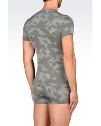 Emporio Armani | Gray Undershirt for Men | Lyst