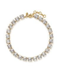 J.Crew - Metallic Crystal Cube Necklace - Lyst