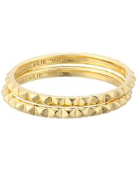 Elizabeth and James | Metallic Divi Delgado Ring Stack | Lyst