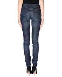 Goldsign - Blue Denim Pants - Lyst