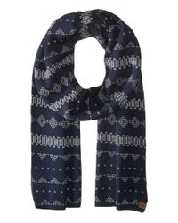 Obey | Blue Pitch Scarf for Men | Lyst