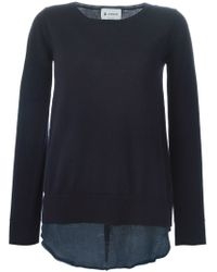 Dondup - Blue Layered Sweater - Lyst