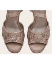 Frye | Gray Patricia Concho Wedge | Lyst