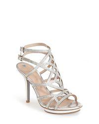 Pelle Moda | Metallic Pella Moda 'Reese' Caged Sandal | Lyst