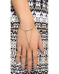 Rebecca Minkoff - Metallic Hex Crystal Handchain - Gold/crystal - Lyst